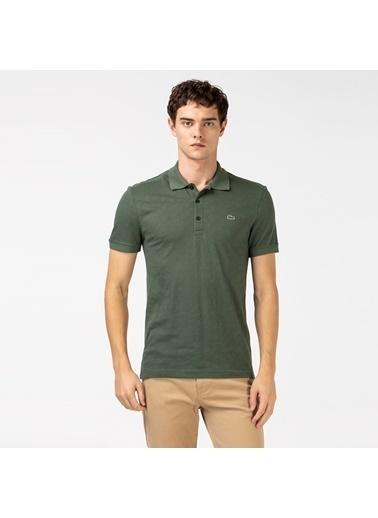 Lacoste Erkek Slim Fit Tişört PH0022.22H Yeşil